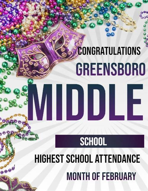 greensboro middle school highest school attendance for february 2020
