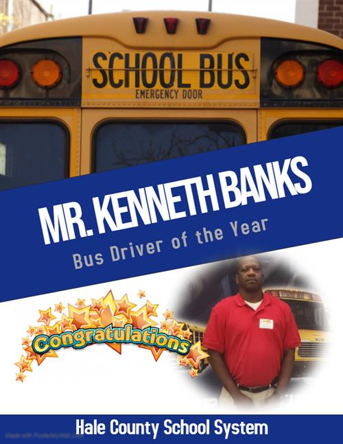 mr kenneth banks bus driver of the year congratulations